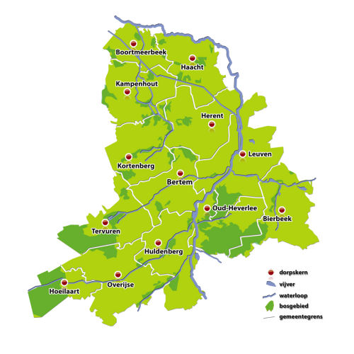 Afbeeldingsresultaat voor kaart dijleland